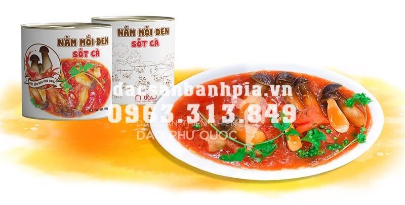 nấm mối đen sốt cà đặc sản Phú Quốc